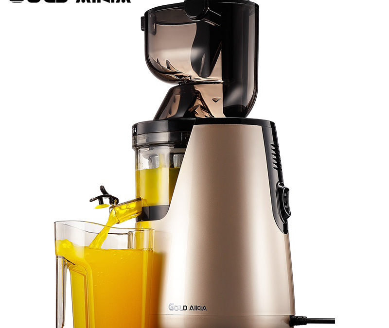 Gold Aikia Single Gear Slowly Auger Juicer Blender Low Speed Juicer Extractor Citrus Orange Sugar Cane Fruit Juicers GDA-1000